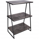 Livia metal table, high with 3 floors, L50cm, B35c